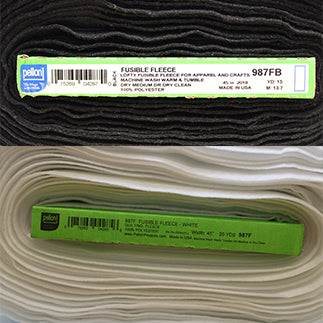 Fusible Fleece - Padding and Quilting - Pellon 987F