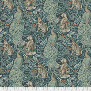 "Forest (teal) - 45"" - 100% Cotton - William Morris"