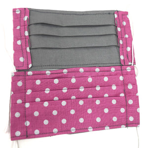 Pick Your Print Adult Face Mask - Pink Polka Dots