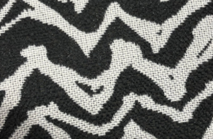 Group swatch upholstery fabric with zebra like print in various colours