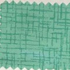 Teal sketched cross-hatch swatch of printed cotton fabric
