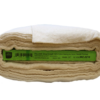 Full roll of natural coloured Wrap-N-Zap Microwavable Batting