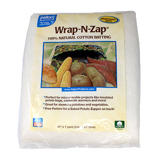 1 yard package of Wrap-N-Zap natural cotton batting