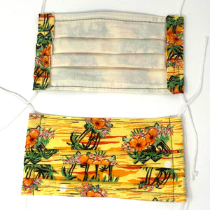Pick Your Print Adult Face Mask - Yellow Hawaiian