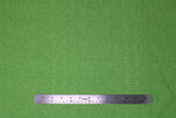 Flat swatch calico fabric in green
