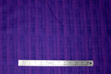 Flat swatch calico fabric in purple blended