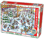 Doodletown (cartoon winter skating scene) 1000-piece Cobble Hill puzzle