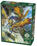 Dragons over waterfall 1000-piece Cobble Hill puzzle