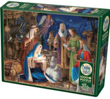 Christmas day scene (Jesus in manger, Mary, Joseph, etc.) 1000-piece Cobble Hill puzzle