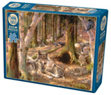 Wolves in forest 500-piece Cobble Hill puzzle