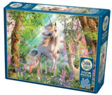 Unicorn in forest 500-piece Cobble Hill puzzle