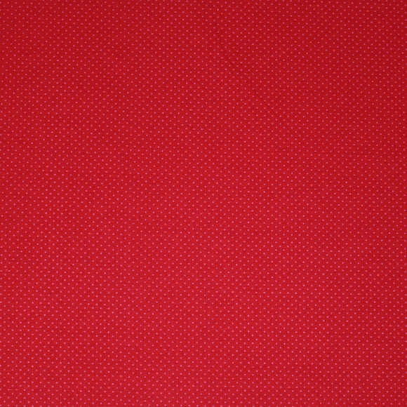 Square swatch so ruby fabric (bright cherry red fabric with tiny faint red dots allover)