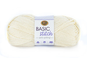Ball of Lion Brand Basic Stitch Anti-Pilling in colourway Ecru
