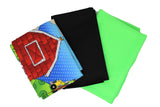 Funny farm play mat/wall hanging DIY Kit contents: multi fabrics (plastic bag with fabric contents)