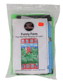Funny farm play mat/wall hanging DIY Kit packaging front (plastic bag with fabric contents)