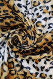 Swirled swatch assorted faux fur in leopard