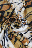 Swirled swatch assorted faux fur in tiger