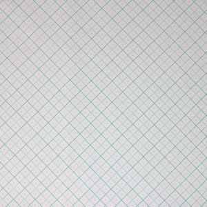 Square swatch bee backgrounds fabric (white fabric with teal grid lines solid squares with 4 squares within separated by dotted line, each square with a tiny dot in the center)