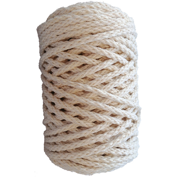 Roll of off white macrame cord
