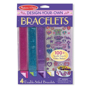 Packaging front design your own bracelets kit (4 bracelets and multi decorative accessories)