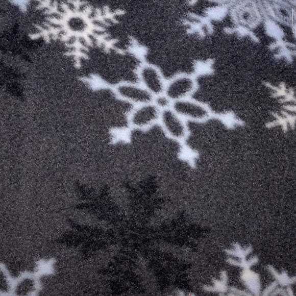 Snowflake Delight (Charcoal) Polar Fleece - 60