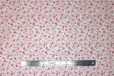 Flat swatch fabric in Pink Flowers