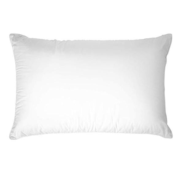 White rectangular pillow form on white background