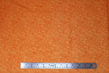 Flat swatch fabric in Impressions Moire (orange)