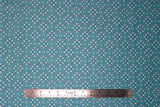 Flat swatch circles & dots print fabric in Juxtaposey (light blue/white dot design)