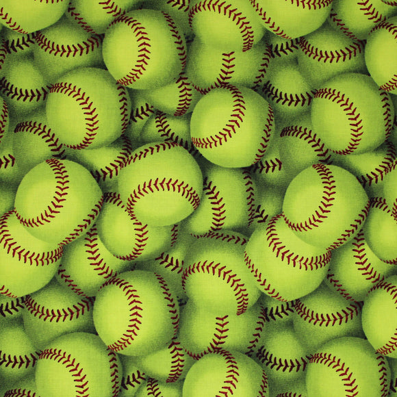 Square swatch baseballs printed fabric