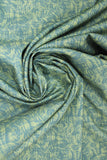 Swirled swatch fabric Impressions Moire II (dark/green)