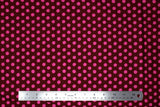 Flat swatch Pink Spots on Burgundy fabric