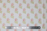 Flat swatch Star Wars licensed baby print fabric in May The Force Be With You! (small text)