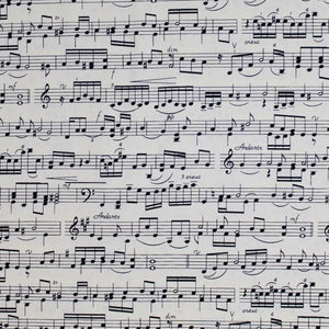 Square swatch sheet music printed fabric
