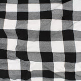 White and Black Buffalo Check printed knit bamboo fabric
