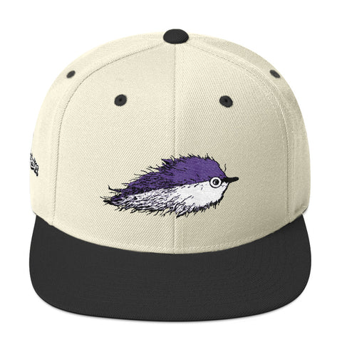 BaitFish Snapback Hat Purple
