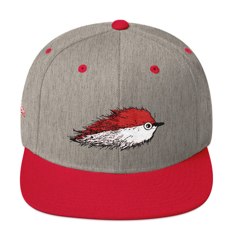 Baitfish Snapback Hat Red