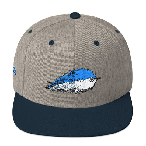 Baitfish Snapback Hat Ocean Blue