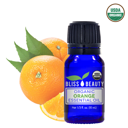 Orange Essential Oil, 10 Ml, USDA Organic, 100% Pure & Natural Therapeutic Grade