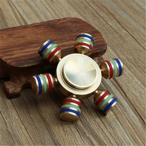 Brass Multi Color Six-Spinner