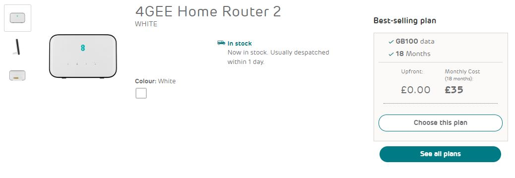 4GEE home router
