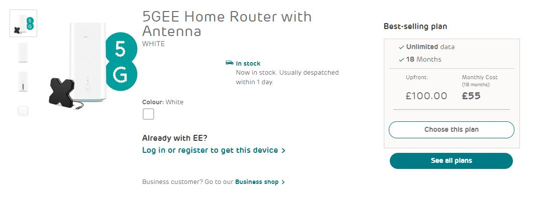 EE 5g home router