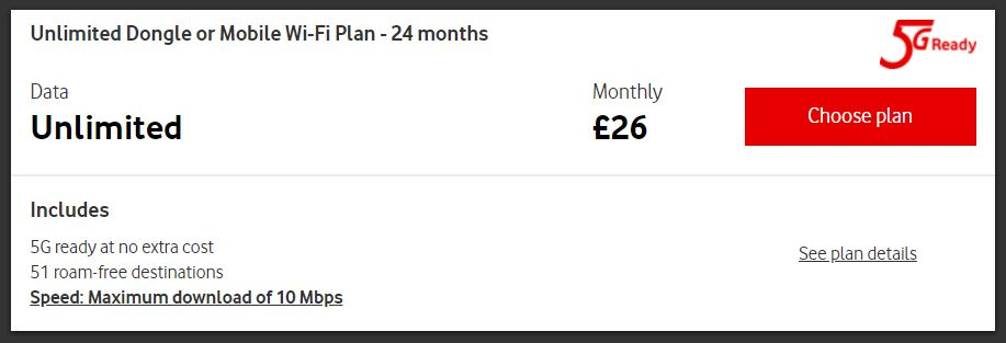 Unlimited Dongle or Mobile Wi-Fi Plan - 24 months