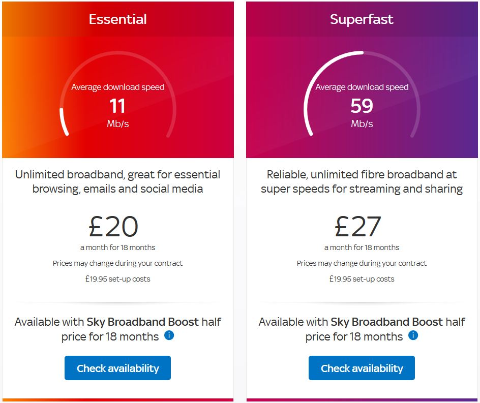 sky broadband new deals