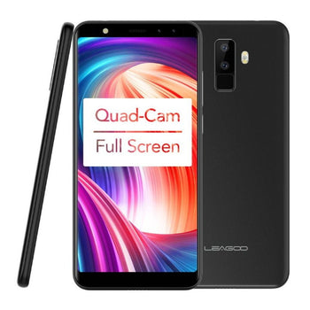 LEAGOO M9 Sim Free Quad-Cam 18:9 Full Screen Mobile Phone Fingerprint 5.5-Inch HD