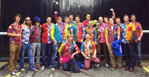 Bent Banani - Travis And His 17 Mates Wearing Unique Shirts Outside St James's Gate, Dublin