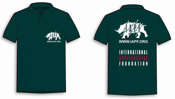 International Anti-Poaching Foundation - Forest Green Polo Shirt With IAPF Logo On Left Breast and On The Back