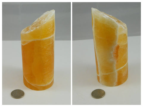 Orange Honeycomb Calcite Pillar - Moroccan Village