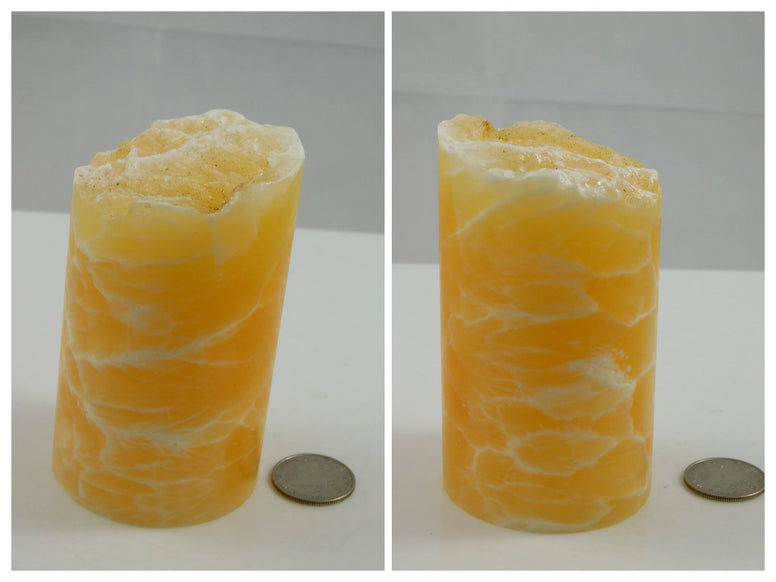 Orange Honeycomb Calcite Pillar