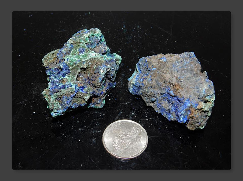 Azurite and Malachite (2pcs) - Moroccan Village